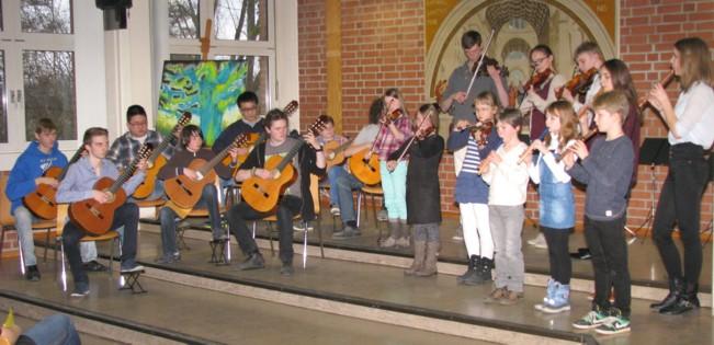 Workshop-Konzert 2015 im Schliemann-Gymnasium