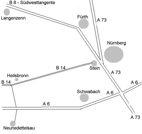 Anfahrt Neuendettelsau