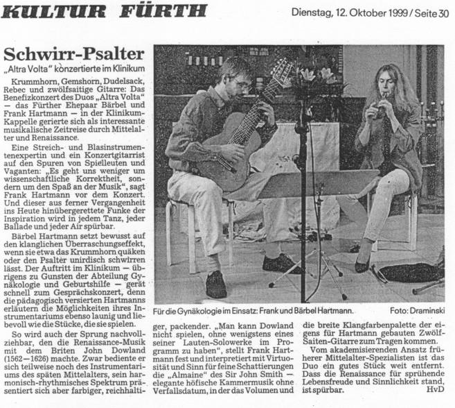Benefiz-Konzert Baerbel und Frank Hartmann