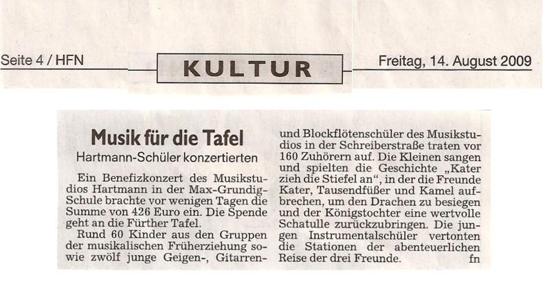 Fuerther Nachrichten Benefiz-Konzert