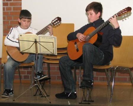 Gitarrenduo Weibrecht Musikstudio Hartmann