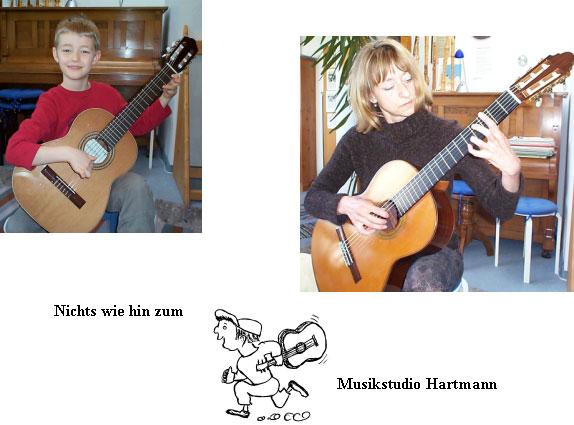 Gitarrenunterricht Musikstudio Hartmann