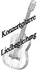Konzertgitarre Liedbegleitung
