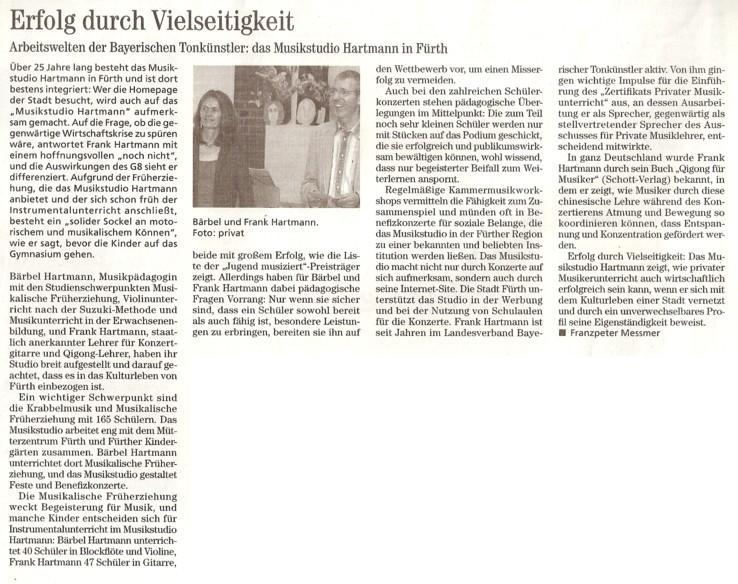 Neue Musikzeitung Musikstudio Hartmann