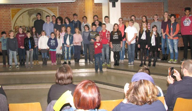 Weihnachtskonzert 2014 in der Aula des Heinrich-Schlieman Gymnasiums